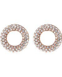 Michael Kors | Metallic Brilliance Rose Gold-toned Pavé Stud Earrings | Lyst