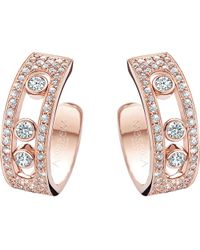 Messika - Metallic Move Joaillerie 18ct Rose-gold And Diamond Hoop Earrings - Lyst