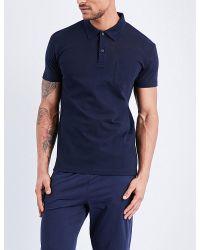 Sunspel | Blue Riviera Cotton-piqué Polo Shirt for Men | Lyst
