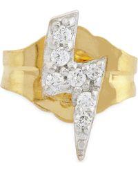 Missoma | Metallic 18ct Gold Lightning Bolt Stud Earring | Lyst