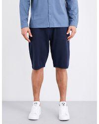 Sunspel | Blue Textured Cellulock Cotton-jersey Shorts for Men | Lyst