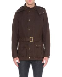 Barbour Brown Mira Waxed-cotton Jacket for men