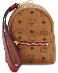 MCM - Brown Mini Leather Backpack Clutch - Lyst