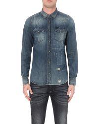 DIESEL | New-sonora Slim-fit Denim (blue) Shirt for Men | Lyst