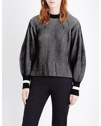 Sportmax | Black Nome Striped Knitted Jumper | Lyst