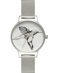 Olivia Burton   Multicolor Ob15am71 Silver-plated Hummingbird Watch   Lyst