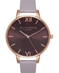 Olivia Burton Multicolor Ob15ex75 Rose Gold-plated And Leather Watch
