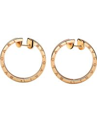 BVLGARI | B.zero1 18kt Pink-gold Hoop Earrings | Lyst