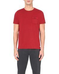 Oliver Spencer | Red Envelope Cotton-jersey T-shirt for Men | Lyst