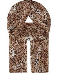 Max Mara Multicolor Leopard Print Silk Scarf