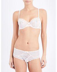 Passionata   White Adorable Lace Half-cup Bra   Lyst