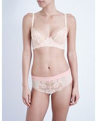 Passionata Pink Bloom Lace Bustier Bra