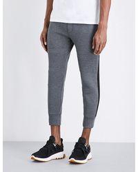 Neil Barrett | Gray Slim-fit Cropped Neoprene Jogging Bottoms | Lyst