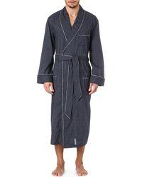 Derek Rose | Blue Plaza 21 Col B Spot Dressing Gown for Men | Lyst