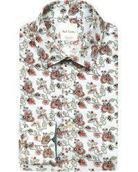 Paul Smith - Blue Soho-fit Floral-print Cotton Shirt for Men - Lyst