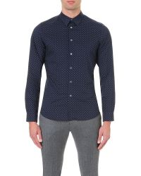 PS by Paul Smith | Blue Polka Dot Cotton Shirt for Men | Lyst
