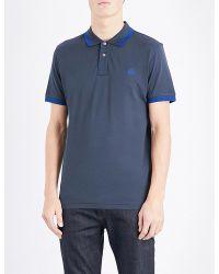 PS by Paul Smith | Blue Slim-fit Cotton-piqué Polo Shirt for Men | Lyst