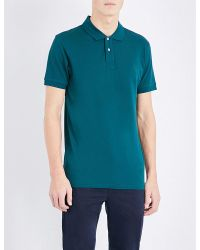 PS by Paul Smith | Green Slim-fit Cotton-piqué Polo Shirt for Men | Lyst