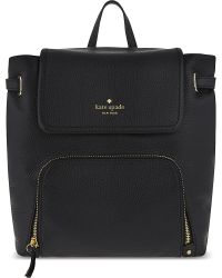 kate spade new york Black Cobble Hill Charley Leather Backpack