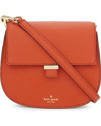 kate spade new york Orange Leonard Street Letty Leather Shoulder Bag