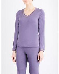 Calvin Klein | Purple Naked Touch Jersey Pyjama Top | Lyst