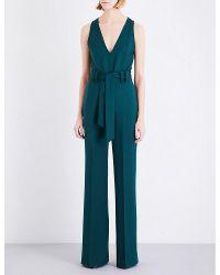 Gabriela Hearst Green Lennox Stretch-wool Jumpsuit