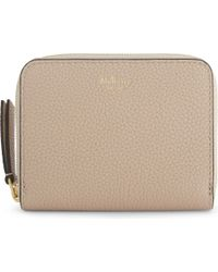 Mulberry Natural Small Grained Leather Zip-around Purse
