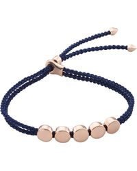 Monica Vinader - Metallic Linear Bead 18ct Rose-gold Plated Friendship Bracelet - Lyst