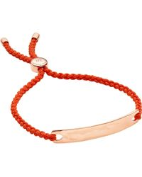 Monica Vinader | Metallic Havana 18 Carat Gold Plated Vermeil Friendship Bracelet | Lyst