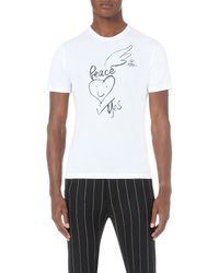 Vivienne Westwood - White War And Peace Cotton-jersey T-shirt for Men - Lyst