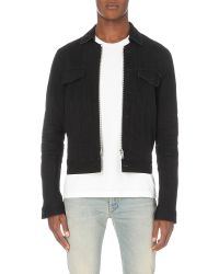 Maison Margiela | Black Dark Wash Denim Jacket for Men | Lyst