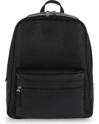 Maison Margiela Black Grained Leather Backpack