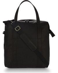 Maison Margiela Black Leather Holdall for men