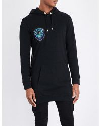Balmain | Black Beaded Cotton Hoody for Men | Lyst