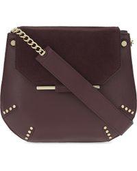Sandro Purple Bonnie Shoulder Bag