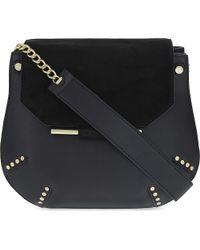 Sandro Black Bonnie Shoulder Bag
