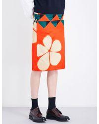 Dries Van Noten Multicolor Scranton Geo-print Crepe Pencil Skirt