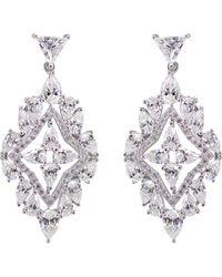 Carat* | Metallic Antoinette Solitaire Chandelier Earrings | Lyst