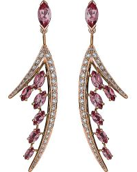 Shaun Leane | Metallic Aerial 18ct Rose Gold And Diamond Earrings | Lyst