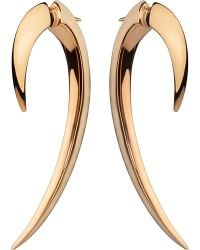 Shaun Leane | Metallic Silver And Rose Gold-plate Hook Earrings Size 1 | Lyst