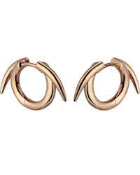 Shaun Leane | Metallic Sterling Silver Rose Gold Vermeil Thorned Hoop Earrings | Lyst
