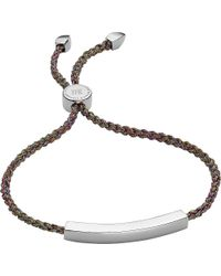 Monica Vinader | Metallic Linear Sterling Silver Friendship Bracelet | Lyst