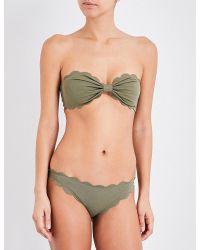 Marysia Swim - Green Antibes Scalloped Bikini Top - Lyst
