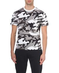Sandro   White War Cotton-jersey T-shirt for Men   Lyst