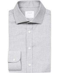 Smyth & Gibson   Gray Albany Brushed Cotton-twill Shirt for Men   Lyst