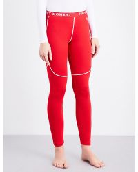 Perfect Moment   Red Thermal Stretch-woven Ski Leggings   Lyst