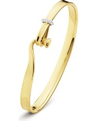 Georg Jensen | Metallic Torun 18ct Yellow-gold And Diamond Bangle | Lyst