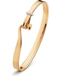 Georg Jensen | White 18ct Rose-gold And Diamond Bangle | Lyst