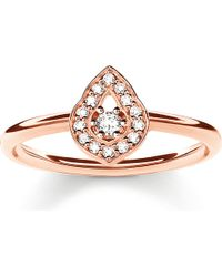 Thomas Sabo - Multicolor Fatima's Garden Rose Gold-plated And Zirconia-pavé Stacking Ring - Lyst