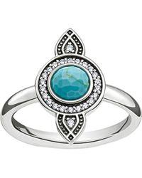 Thomas Sabo   Metallic Dreamcatcher Sterling Silver Ring   Lyst
